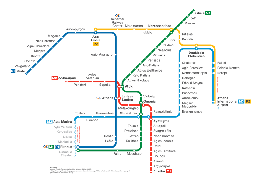 Map Athens Metro